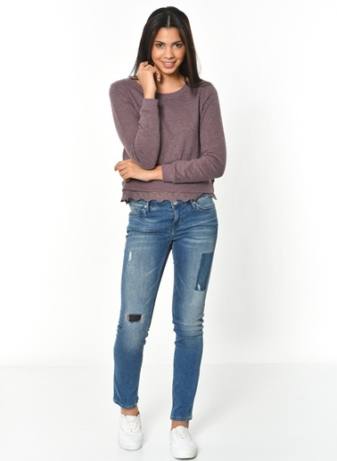 Dantel Detaylı Sweatshirt-Only